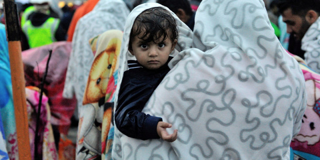 Austria. Syrian refugee child.