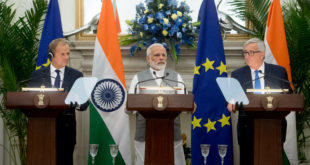 Tusk, Modi, Juncker, EU-India